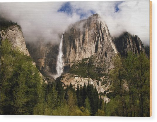 Yosemite Valley View Wood Print
