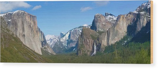Yosemite Valley Visualized Wood Print