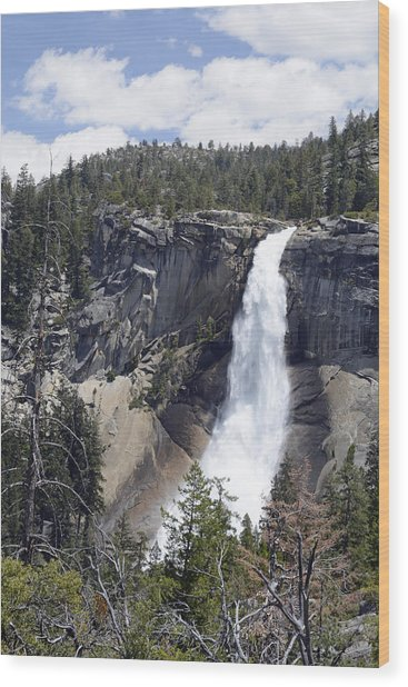Yosemite's Nevada Fall Wood Print