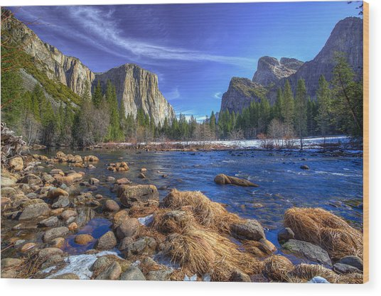 Yosemite's Valley View Wood Print