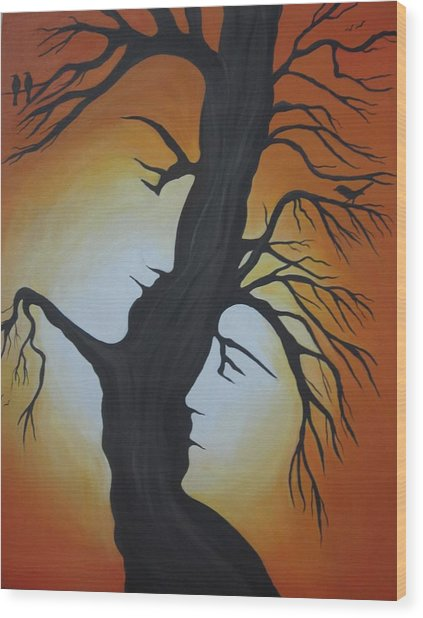 You And Me Wood Print by Alka  Malik