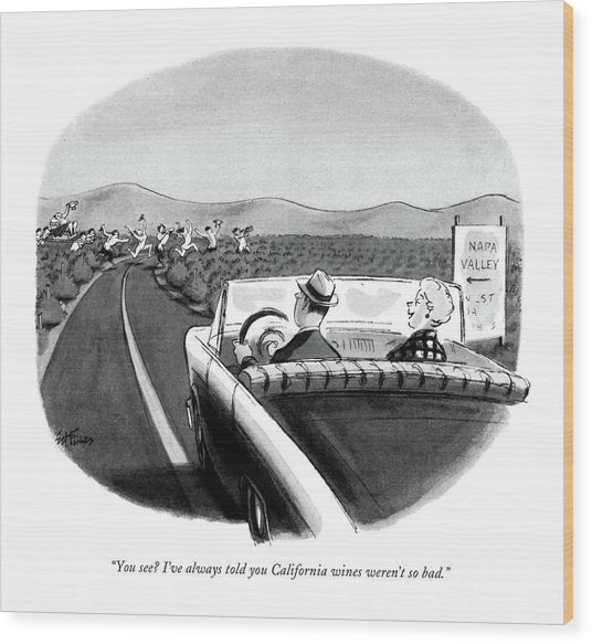 You See? I've Always Told You California Wines Wood Print