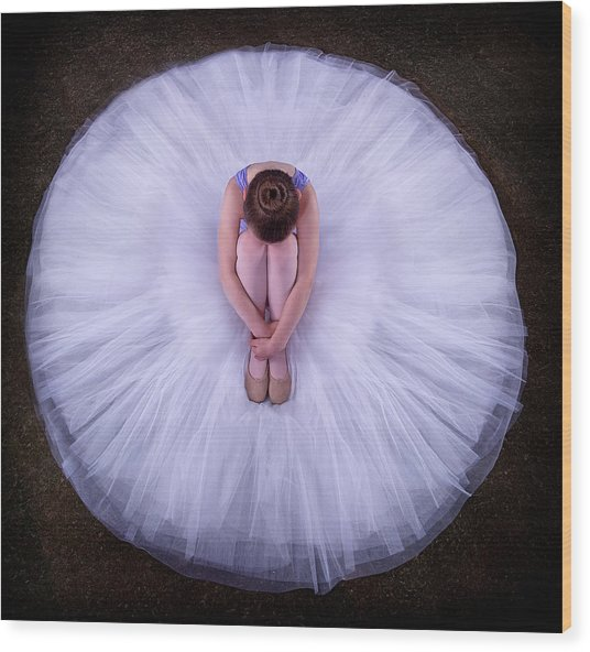 Young Ballerina Wood Print
