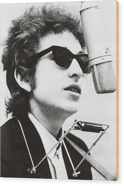 Young Bob Dylan Wood Print