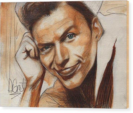 Young Frank Sinatra Wood Print