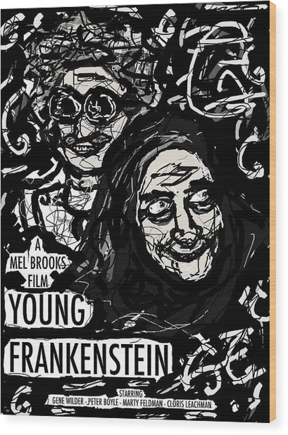 Young Frankenstein Poster Design Wood Print