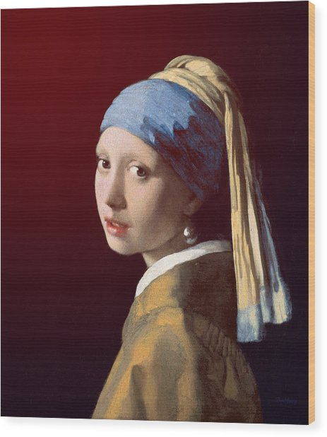 Wood Print featuring the painting Young Lady by David Bridburg