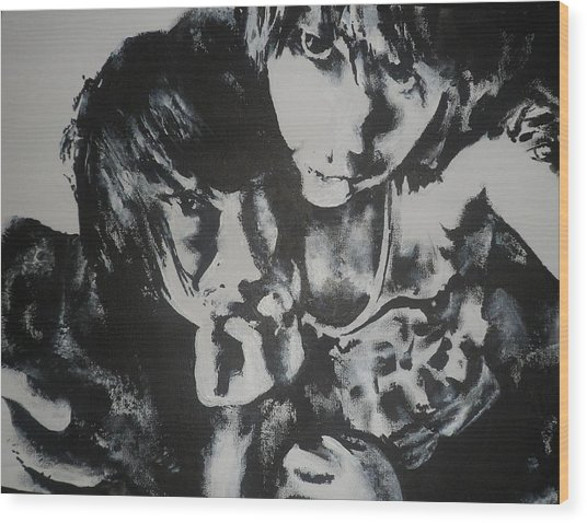 Young Lovers Wood Print