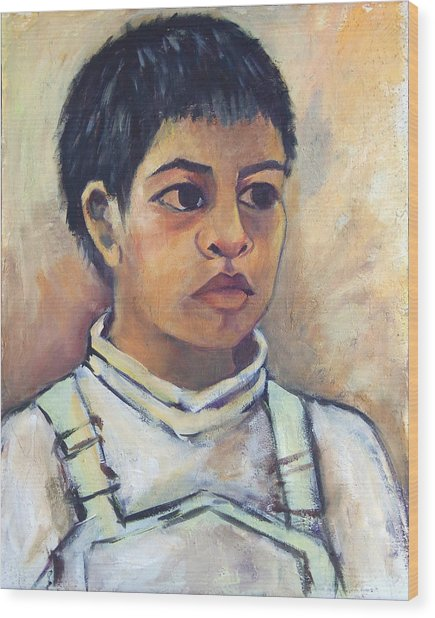 Young Mexican Boy Wood Print
