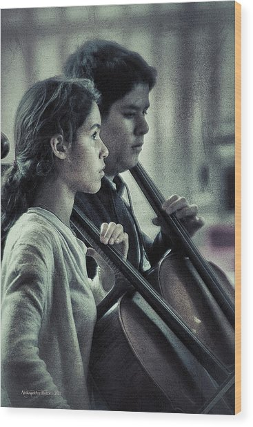 Young Musicians Impression # 38 Wood Print