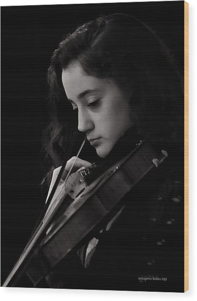 Young Musicians Impression #29 Wood Print