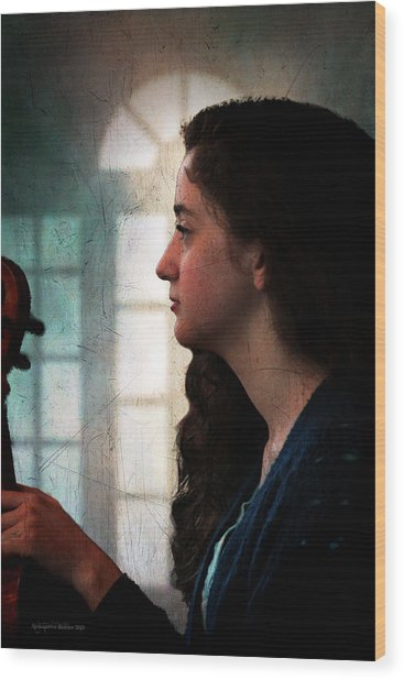 Young Musicians Impression #46 Wood Print