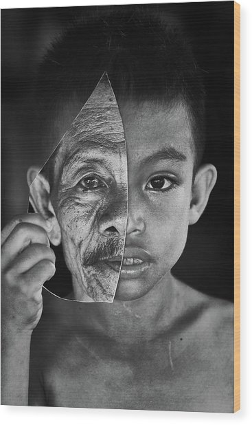 Young Or Old Wood Print by Amaluddin
