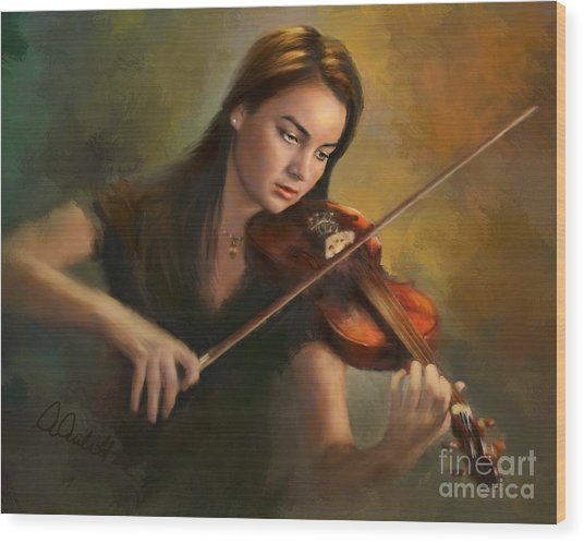 Young Soloist Wood Print