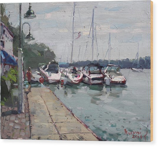 Youngstown Yachts Wood Print