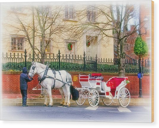Your Carriage Awaits Wood Print