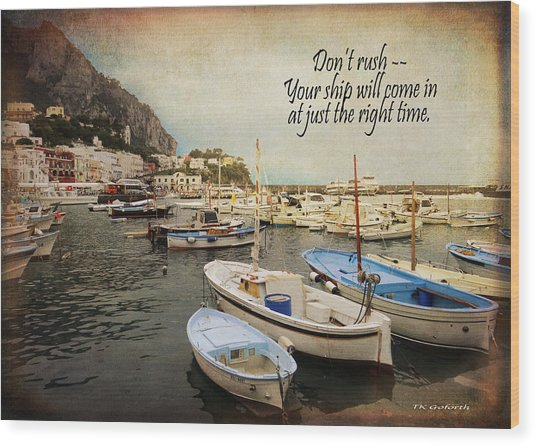 Your Ship Will Come In Wood Print