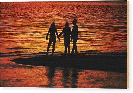 Youthful Friendships Wood Print