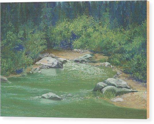 Yuba River California Wood Print by Martha J Davies