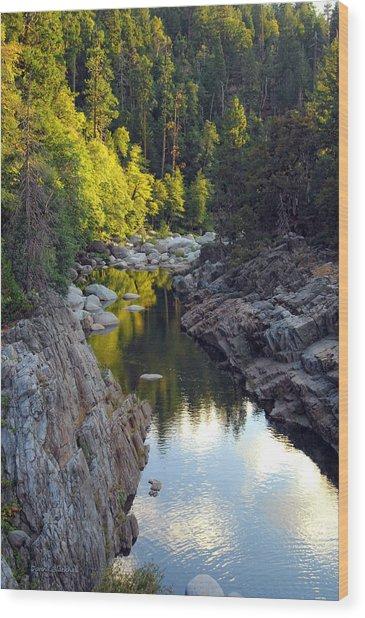 Yuba River Twilight Wood Print