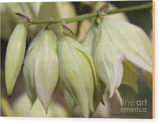 Yucca Flowers No. 1 Wood Print