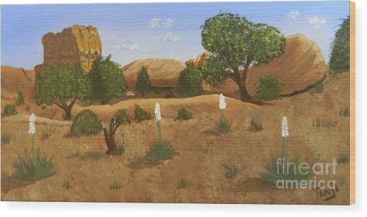 Yukka Field Wood Print