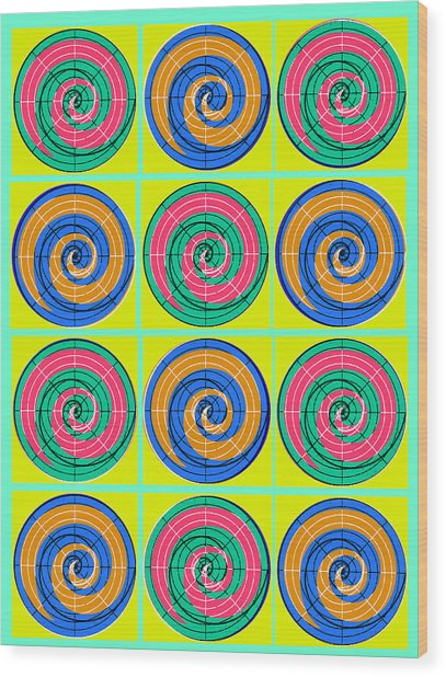 Yum Yums Lifesaver Spiral Orb Circle Bubble Pop A La After Warhol Wood Print
