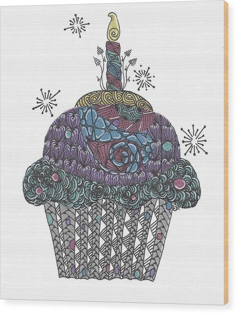 Yummy Cupcake Wood Print