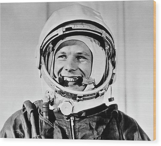 Yuri Gagarin Wood Print by Sputnik/science Photo Library
