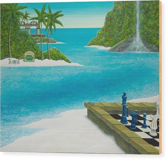 Yvan's Paradise Wood Print