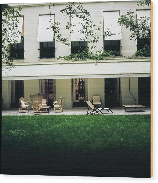 Yves Saint Laurent's Patio Wood Print by Horst P. Horst