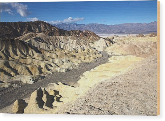 Zabriskie Point 2 By Frank Lee Hawkins Wood Print
