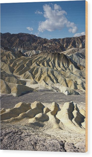 Zabriskie Point Death Valley By Frank Lee Hawkins Wood Print