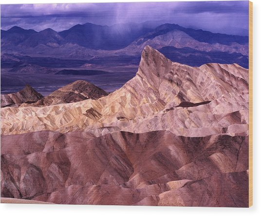 Zabriskie Point Death Valley National Park Wood Print