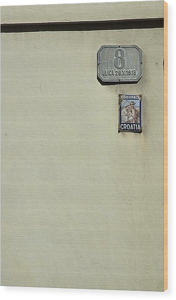 Zagreb Minimalism Wood Print