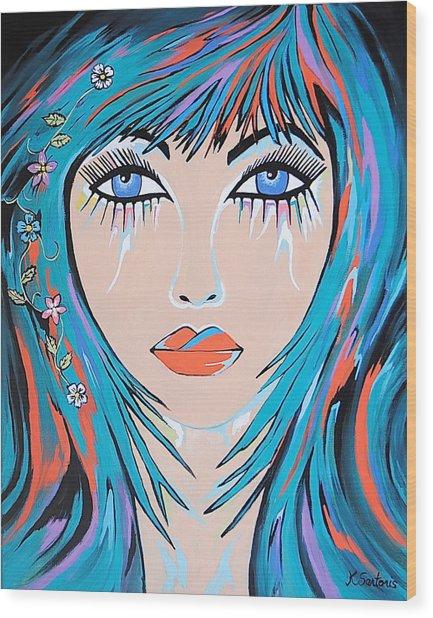 Zahara - Contemporary Woman Art Wood Print