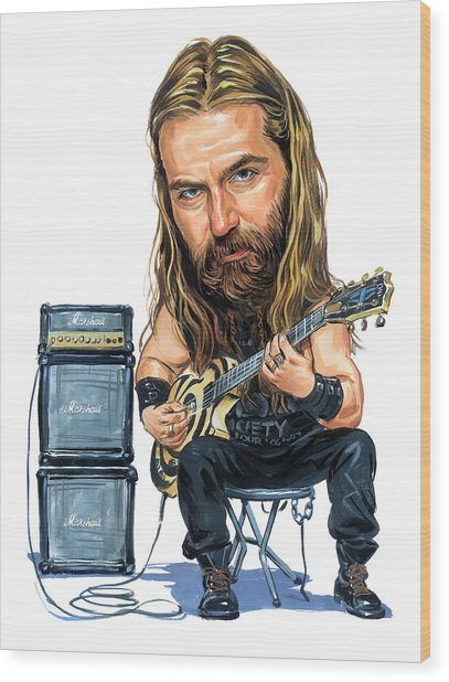 Zakk Wylde Wood Print by Art