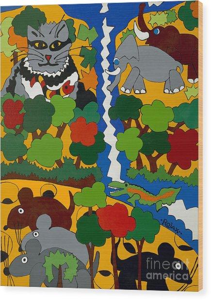 Zane Grey In Africa Wood Print