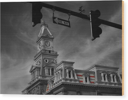 Zanesville Oh Courthouse Wood Print