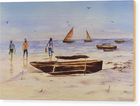 Zanzibar Forzani Beach Wood Print