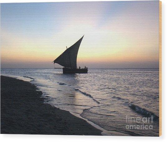 Zanzibar Sunset 20 Wood Print by Giorgio Darrigo