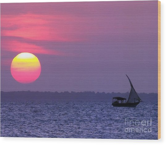 Zanzibar Sunset 21 Wood Print by Giorgio Darrigo