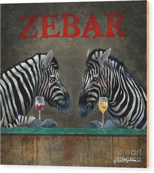 Zebar... Wood Print
