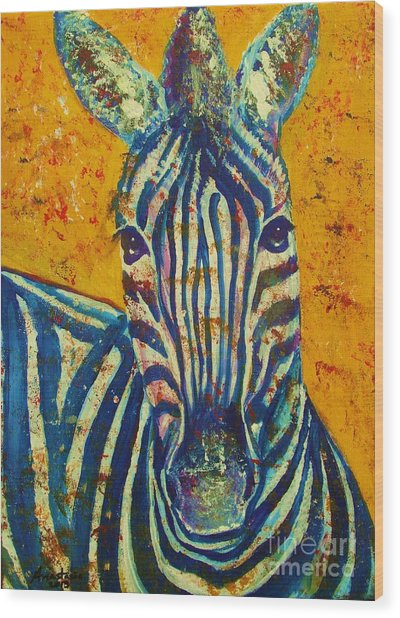 Zebra Wood Print by Anastasis  Anastasi