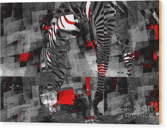 Zebra Art - 56a Wood Print