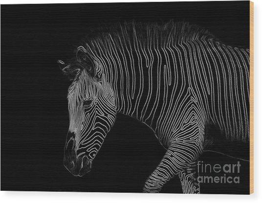 Zebra Art Wood Print