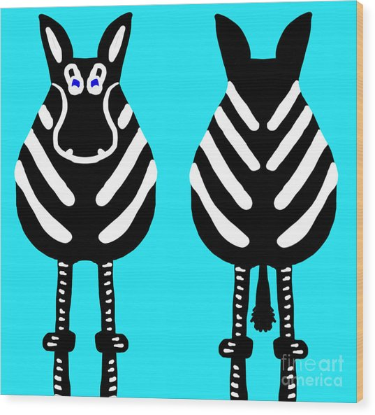 Zebra - Both Ends Wood Print