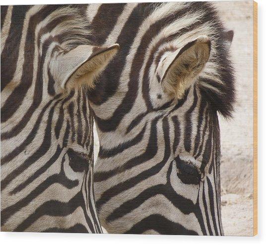Zebra Double Wood Print