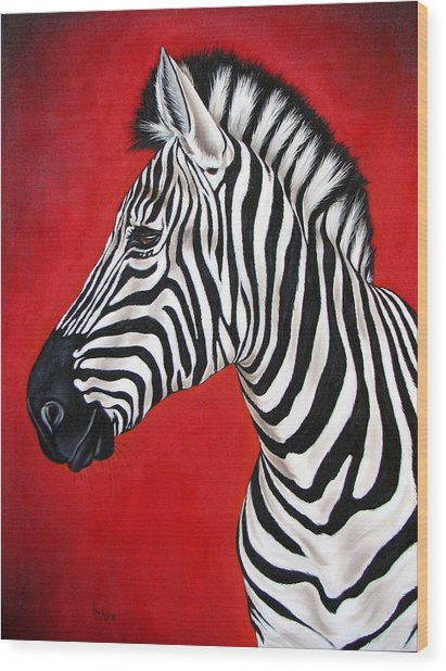 Zebra Wood Print by Ilse Kleyn