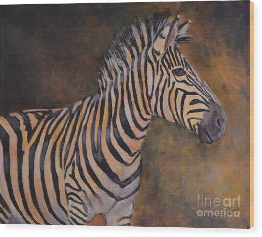 Zebra Wood Print by Jana Baker